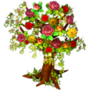 Flowery tree deco