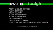 Kwsb 18 tonight lineup april 21 2016