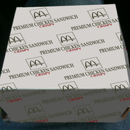 Crispy Premium Chicken Sandwich package McDonald's 2011 1983 style