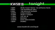 KWSB Tonight lineup (September 7, 2014)