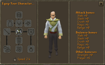 3rd Age Druidic Robe Top Stats