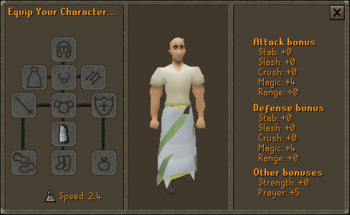 3rd Age Druidic Robe Bottom Stats