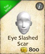 Eye slashed scar
