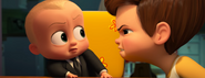 Boss Baby looking scared of Tim