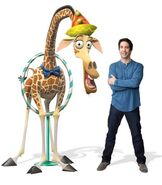 David Schwimmer with Melman at the Circus