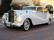 **white on driveway-1948 Rolls Royce Silver Wraith Limousine