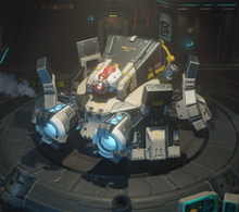 Disruptor cannon equipped