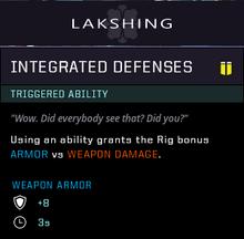 Integrated defenses gear