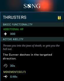 Thruster gear