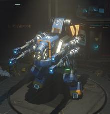 Plasma rifle equipped