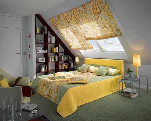image grey and yellow bedroom decor