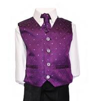 Purple suit close up