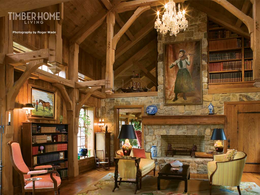 Image timber home library dumbledore 39 s army for Beautiful a frame homes
