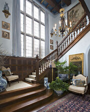 Stately home staircase