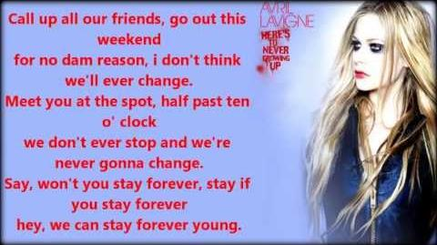 Avril Lavigne - Here's To Never Growing Up (Lyric Video)-0
