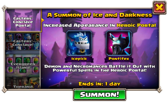 Summon of Ice and Darkness