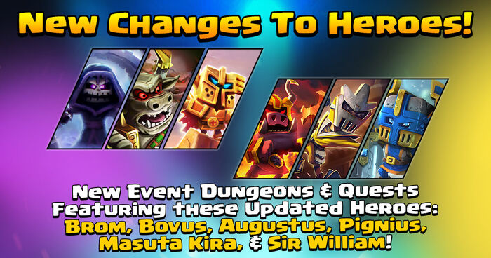 New Changes to Six Heroes