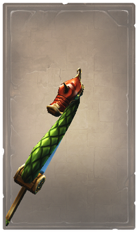 Green serpent glaive
