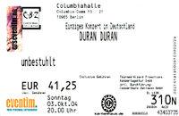Germany 03.10 2004 ticket duran