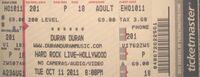 Hard rock live ticket duran duran 2011