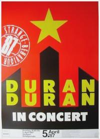 1 germany 1987 poster duran duran Schleyerhalle, Stuttgart (Germany) poster tour