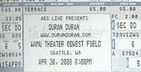 Ticket duran duran 30 april 08 200