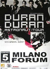 Poster duran duran milano forum