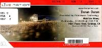 Ticket duran mountain winery 8 july 09 200