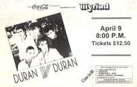 Poster duran duran 9 april 1984