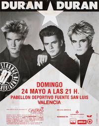 Estadio Muncipal Fuente de San Luis, Valencia, Spain. poster duran duran duran duran