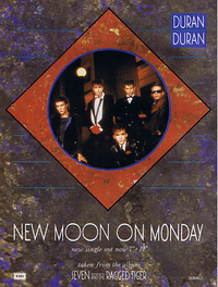 New moon on monday duran duran poster discogs