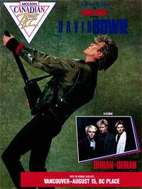 1 duran duran david bowie canada tour poster -1987-08-15- Vancouver BA (Canada), Place Stadium