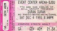 1993 12 04 duran ticket stub edited