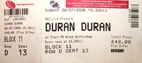 Ticket nottingham duran duran trent fm arena 2008 duran
