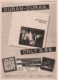 Duran duran discography discogs debut album