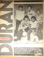Melody maker magazine duran duran 1982