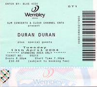 Ticket duran duran duran concert