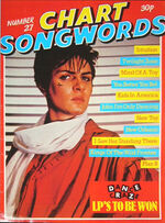 CHART SONGWORDS MAGAZINE DURAN DURAN NO.27