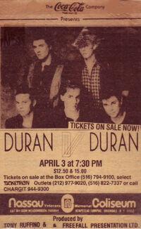 Uniondale NY USA Nassau Coliseum duran duran advert wikipedia 1984