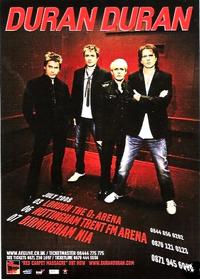 DURAN DURAN UK TOUR POSTER 2008