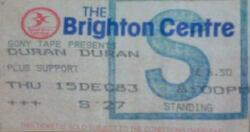Ticket Brighton UK Brighton Centre wikipedia duran duran paper gods album