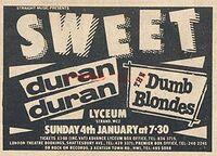 Sweet duran duran 4 january 1981 lyceum