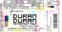 Ticket duran duran 31 may 2005 amsterdam 200