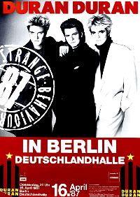 Poster DURAN DURAN Deutschlandhalle 1987