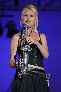 399px-Mindi Abair with saxophone