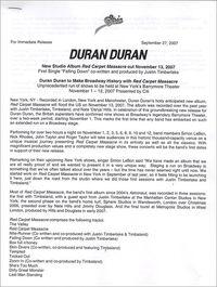 Duran duran Red Carpet Massacre USA a
