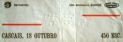 Ticket 18 october 1982