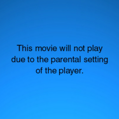 Movie Stopped due to refusal of entering the correct password for parental controls.