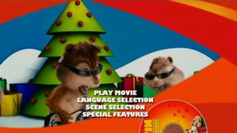 Alvin and the Chipmunks DVD Main Menu (Full-screen side)