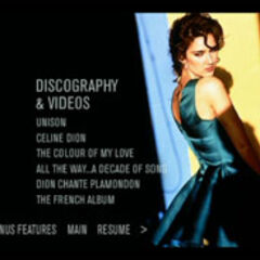 All The Way... A Decade of Song & Video - Discography Menu
